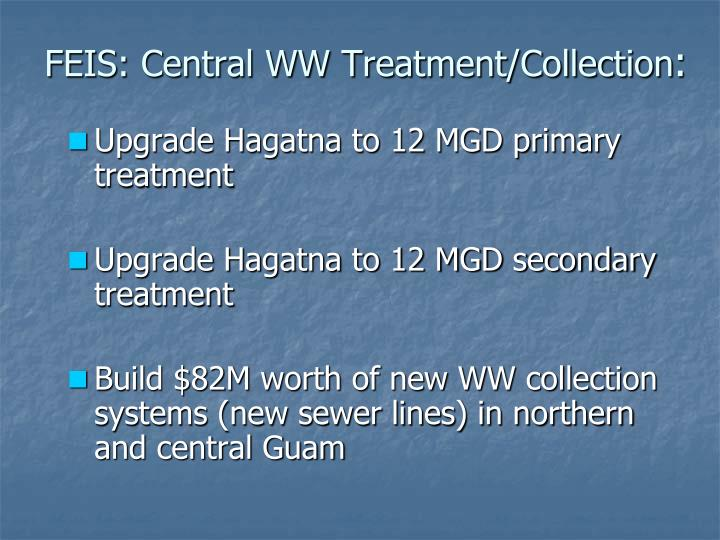 FEIS: Central WW Treatment/Collection