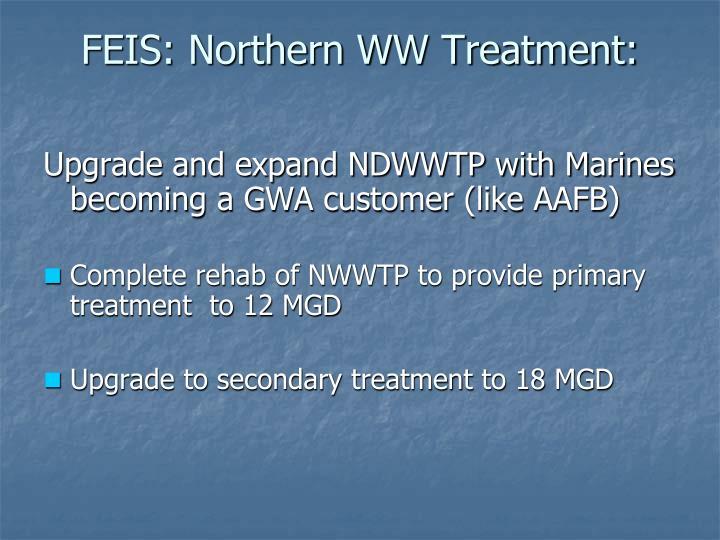 FEIS: Northern WW Treatment: