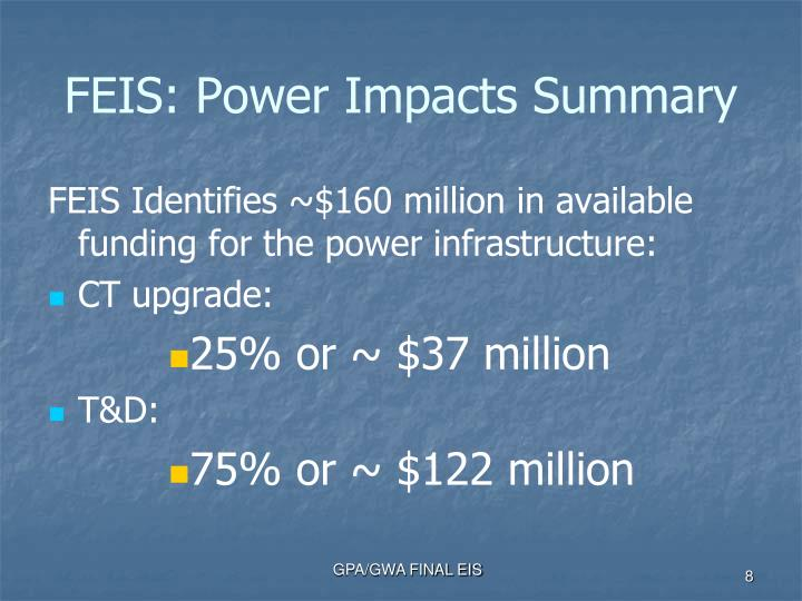 FEIS: Power Impacts Summary