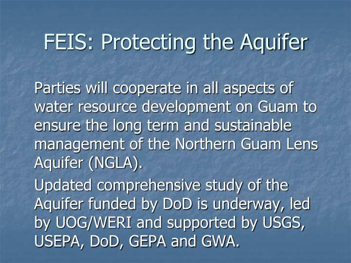 FEIS: Protecting the Aquifer