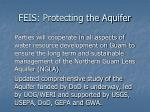 feis protecting the aquifer