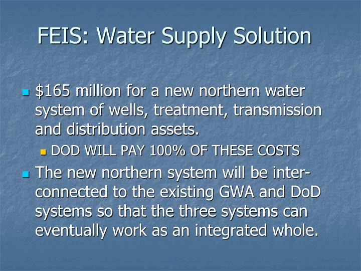 FEIS: Water Supply Solution