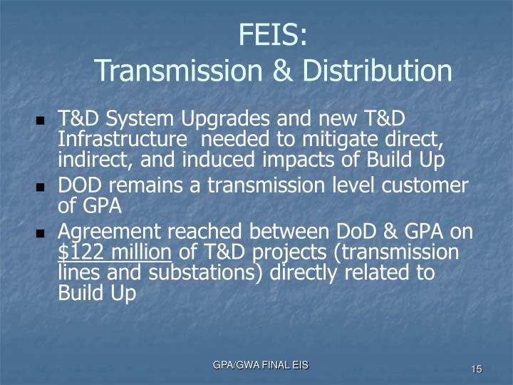 T&D System Upgrades and new T&D Infrastructure  needed to mitigate direct, indirect, and induced impacts of Build Up