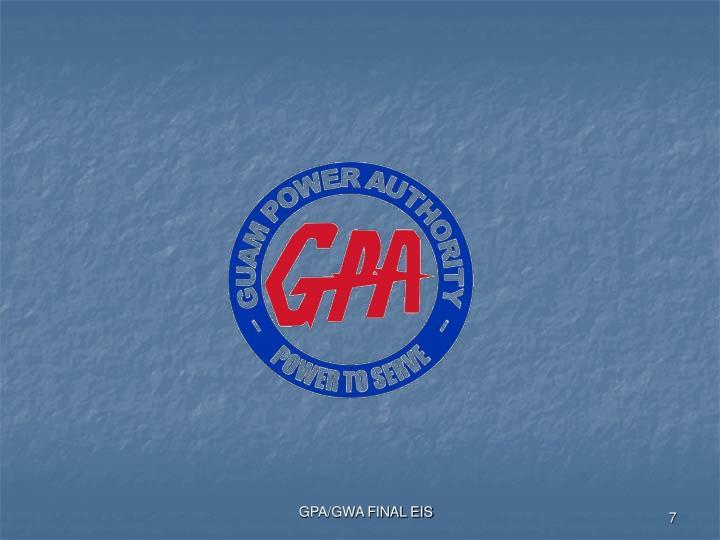 GPA/GWA FINAL EIS