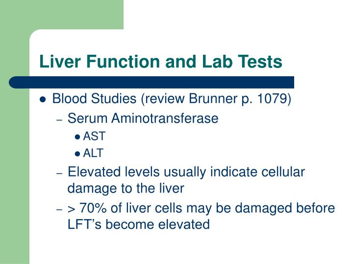 Liver Function and Lab Tests