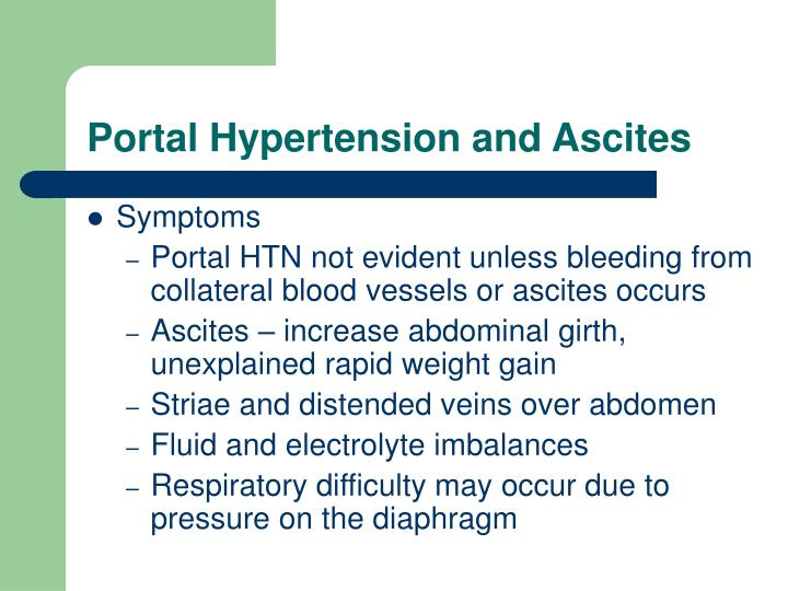 Portal Hypertension and Ascites