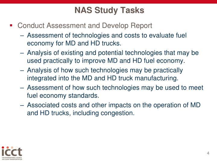 NAS Study Tasks