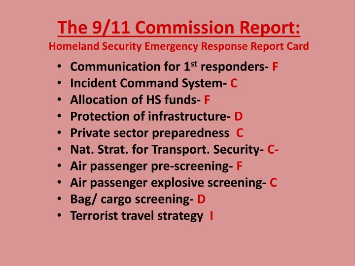 The 9/11 Commission Report: