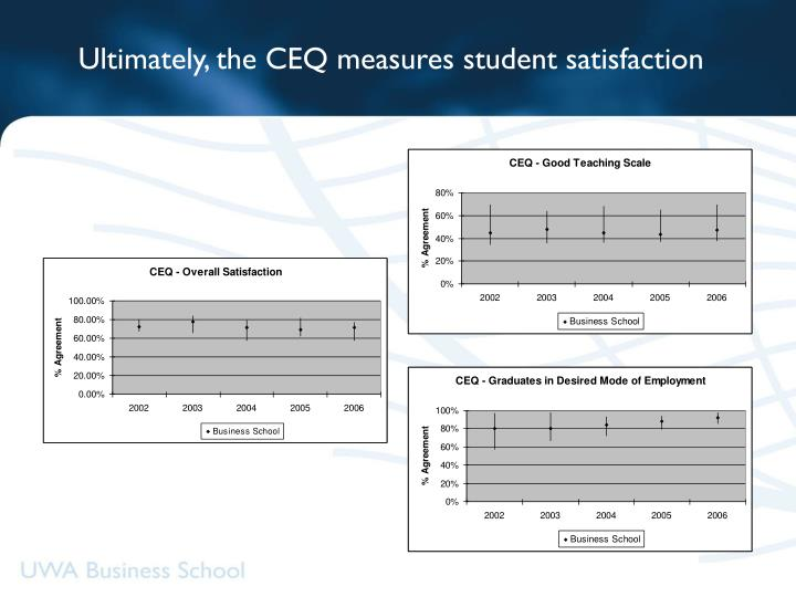Ultimately, the CEQ measures student satisfaction