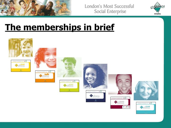 The memberships in brief