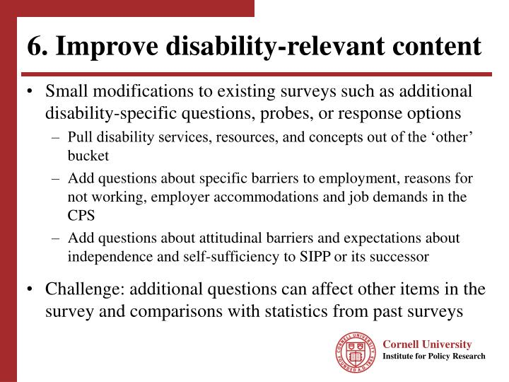 6. Improve disability-relevant content