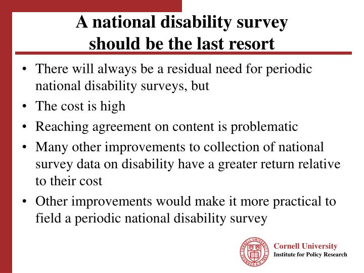 A national disability survey