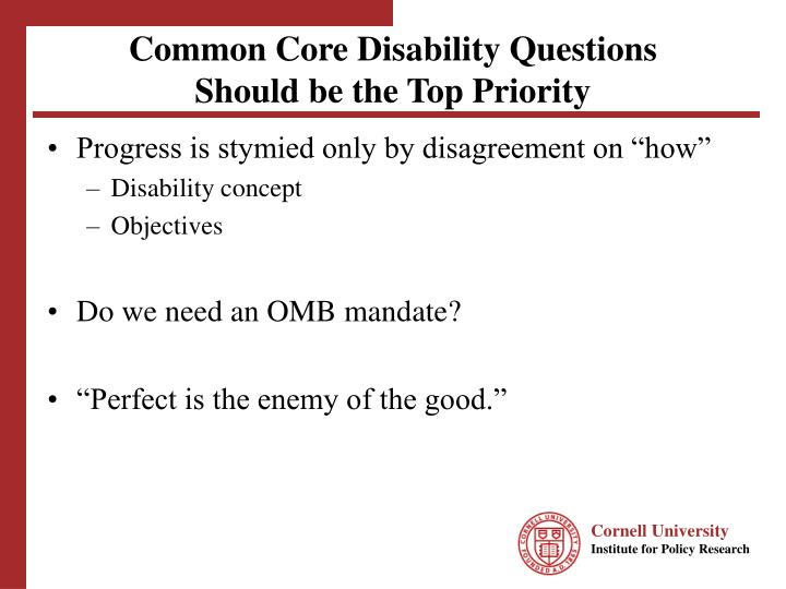 Common Core Disability Questions