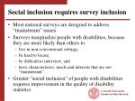 social inclusion requires survey inclusion