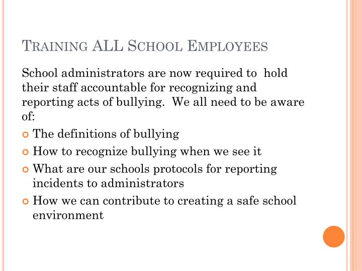 Training ALL School Employees