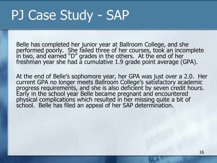 PJ Case Study - SAP