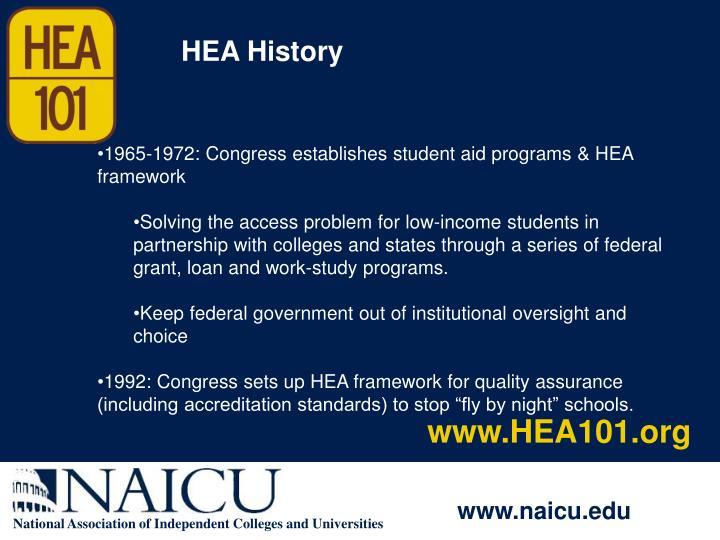 HEA History