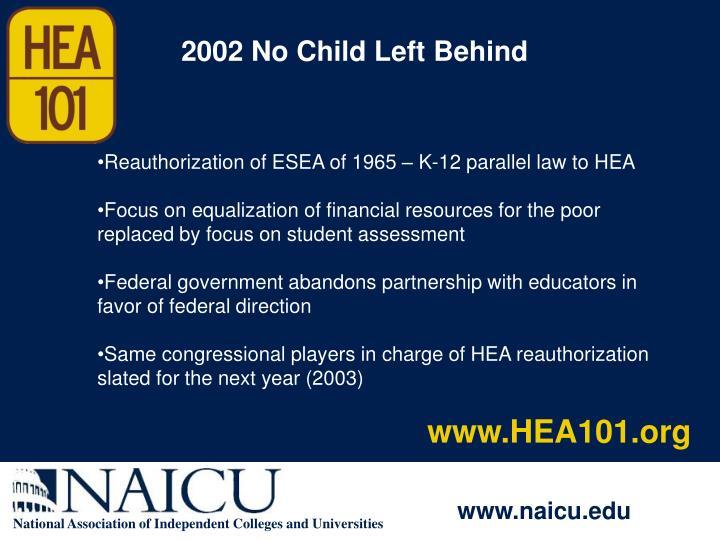 2002 No Child Left Behind