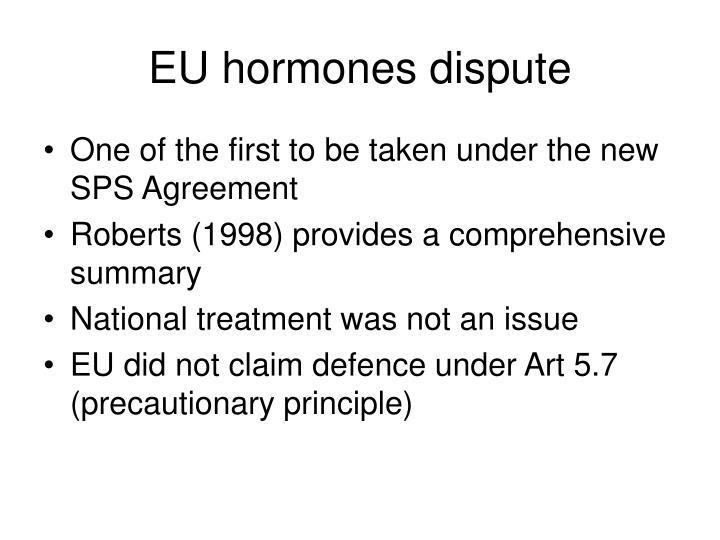 EU hormones dispute