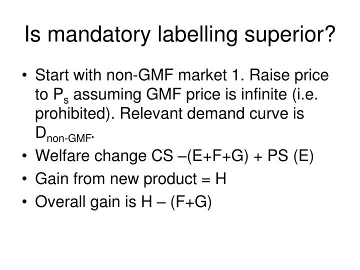 Is mandatory labelling superior?
