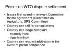 primer on wto dispute settlement