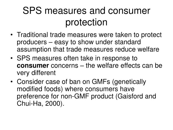 SPS measures and consumer protection