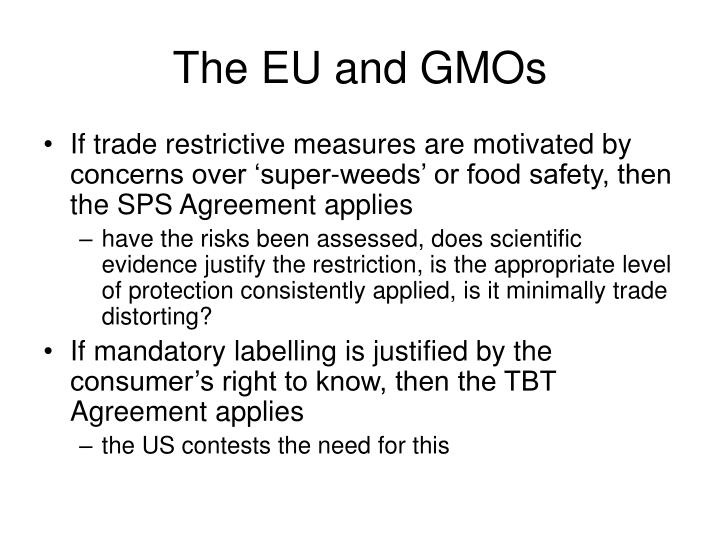 The EU and GMOs