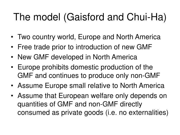 The model (Gaisford and Chui-Ha)