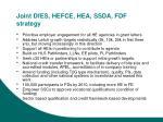 joint dfes hefce hea ssda fdf strategy