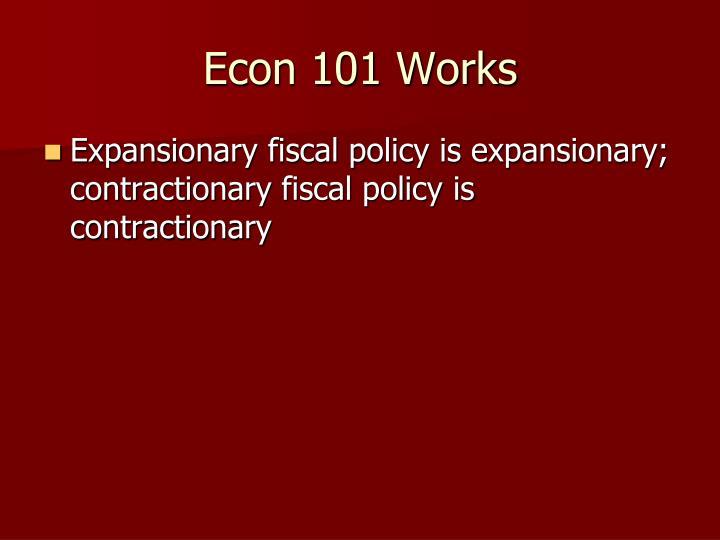 Econ 101 Works