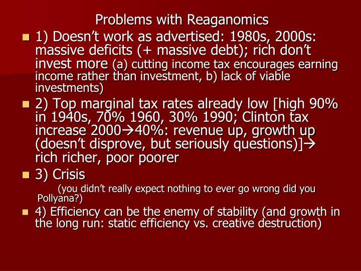 Problems with Reaganomics