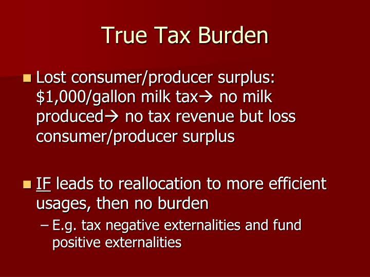 True Tax Burden