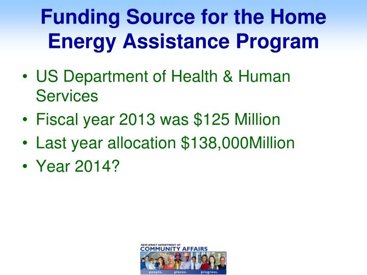 Funding Source for the Home Energy Assistance Program