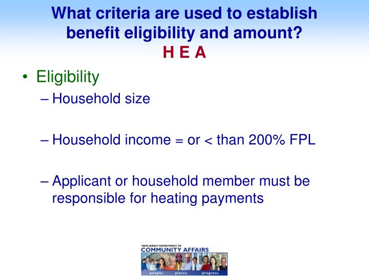 What criteria are used to establish