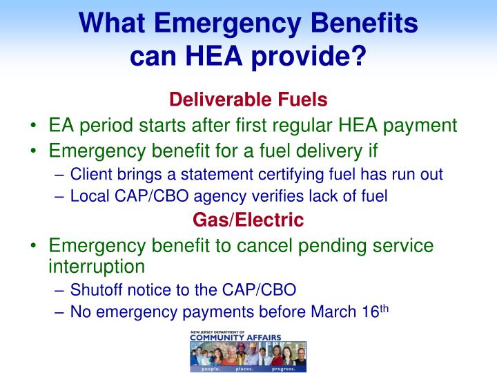 What Emergency Benefits
