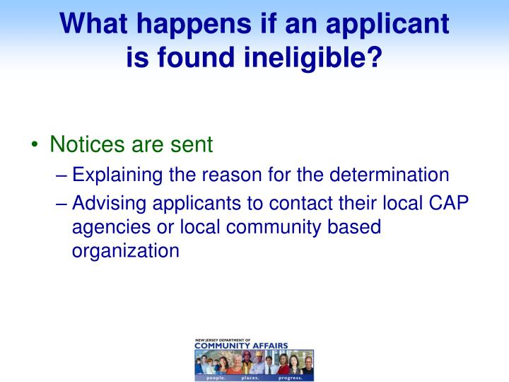 What happens if an applicant