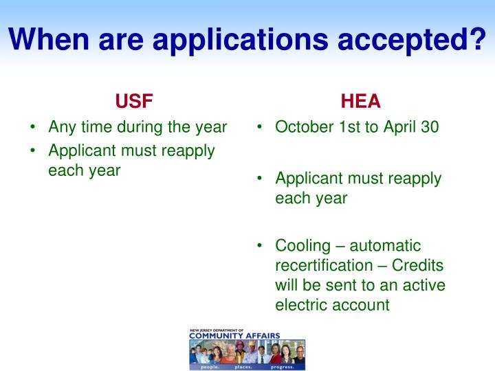 When are applications accepted?