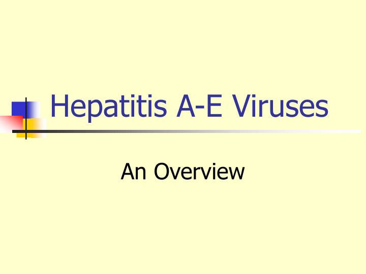 hepatitis a e viruses