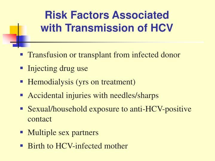 Risk Factors Associated with Transmission of HCV