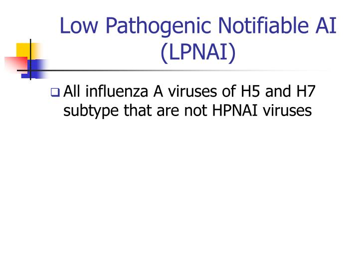 Low Pathogenic Notifiable AI (LPNAI)