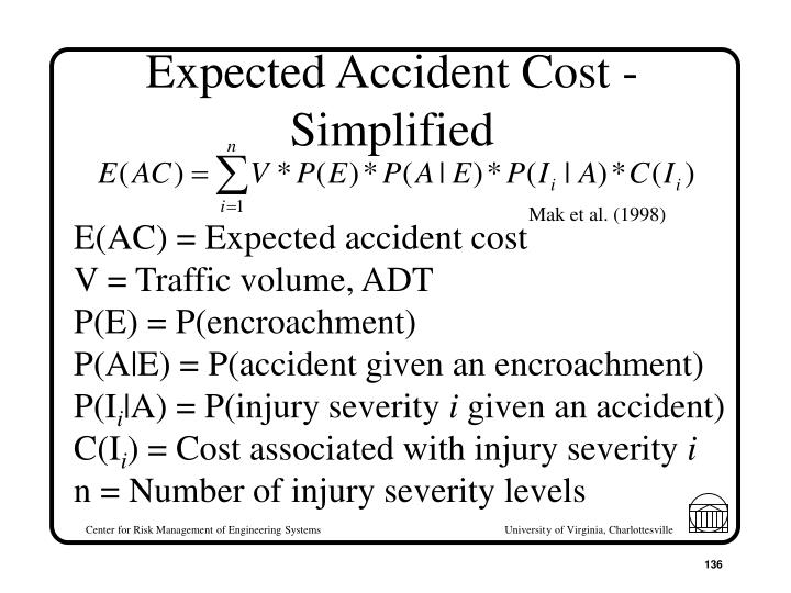 Expected Accident Cost - Simplified