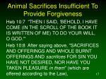animal sacrifices insufficient to provide forgiveness3