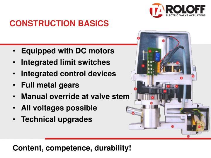 CONSTRUCTION BASICS