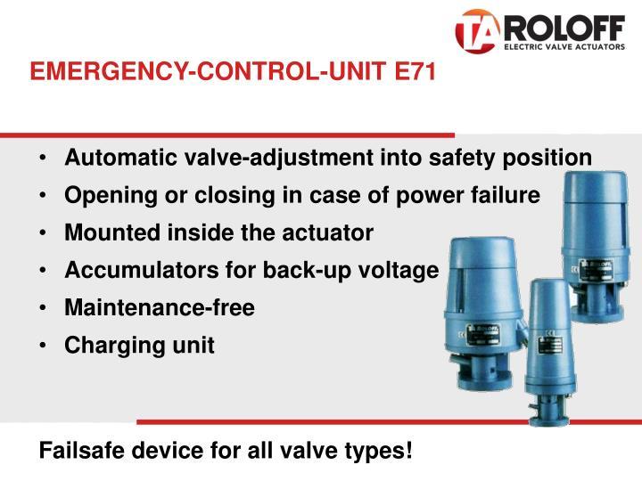 EMERGENCY-CONTROL-UNIT E71