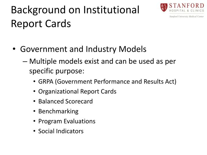 Background on Institutional