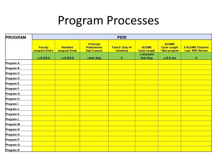 Program Processes