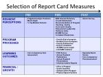 selection of report card measures