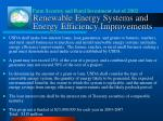 renewable energy systems and energy efficiency improvements