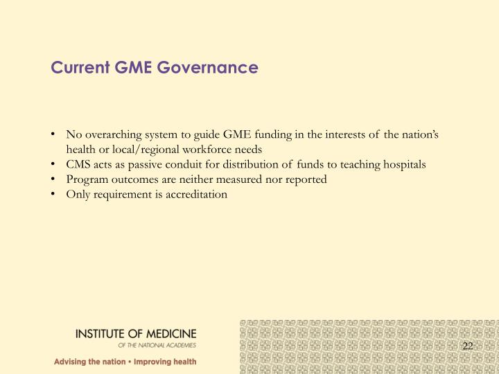 Current GME Governance