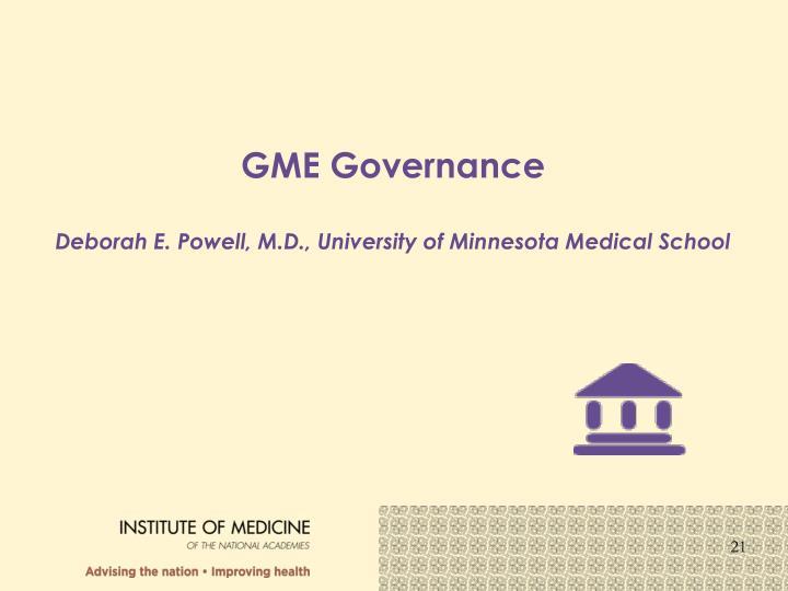 GME Governance